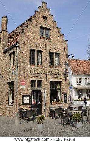 Facade Of Restaurant T In Brugge