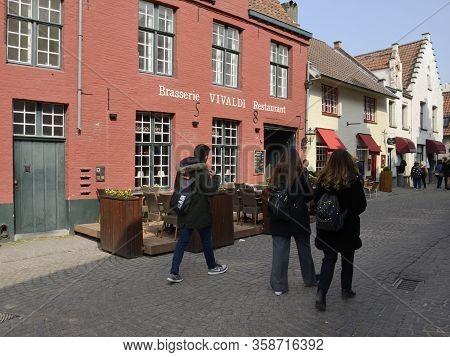 Cobbled Street In Brugge