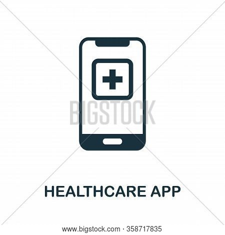 Healthcare App Icon. Simple Element From Digital Healthcare Collection. Filled Healthcare App Icon F