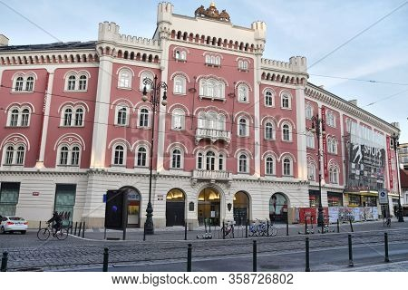 Prague, Czech Republic-17 Of March 2020: Palladium Shopping Mall In Prague