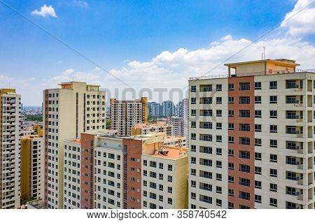 Complex Apartment Building Blocks In Ho Chi Minh City