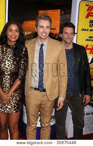 LOS ANGELES - AUG 14:  Joy Bryant, Dax Shepard, Bradley Cooper arrives at the