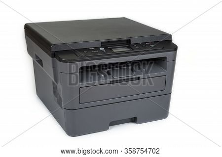 Office And Home Printer On A White Background