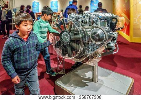 Hong Kong, China - January 20, 2016: Hong Kong Science Museum Interior View. Kids By Attraction Emul