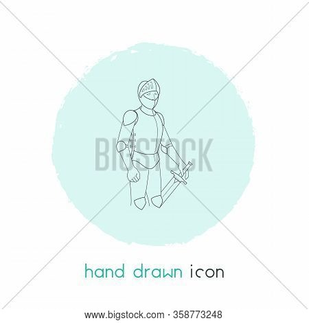 Knight Icon Line Element. Vector Illustration Of Knight Icon Line Isolated On Clean Background For Y