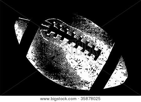 Football graphic in black and white