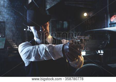 Vintage Italian Mafia Gangster In 1930 In New York