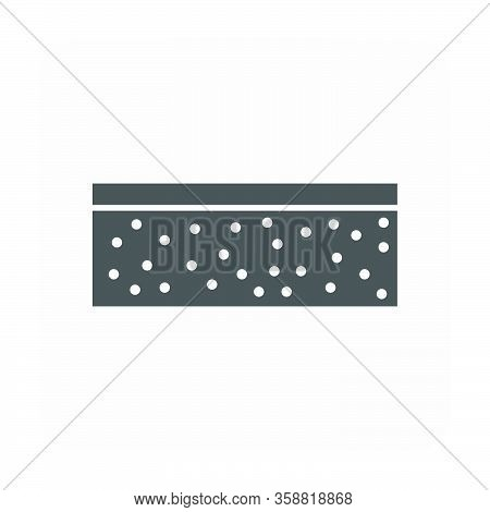 Concrete Slab Casting And Equipment Icon On White.
