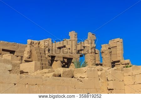 Karnak Temple Complex, Commonly Known As Karnak Comprises A Vast Mix Of Decayed Temples, Chapels, Py