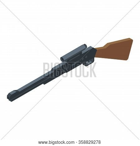 Shooting Scope Rifle Icon. Isometric Of Shooting Scope Rifle Vector Icon For Web Design Isolated On