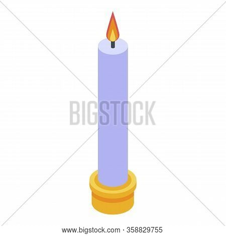 Fortune Teller Burning Candle Icon. Isometric Of Fortune Teller Burning Candle Vector Icon For Web D