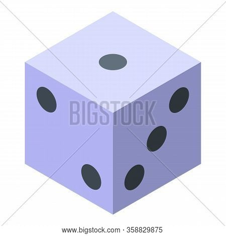 Fortune Teller Dice Icon. Isometric Of Fortune Teller Dice Vector Icon For Web Design Isolated On Wh