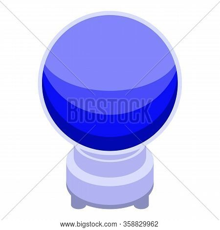Fortune Teller Globe Icon. Isometric Of Fortune Teller Globe Vector Icon For Web Design Isolated On