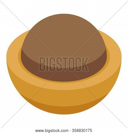 Toffee Icon. Isometric Of Toffee Vector Icon For Web Design Isolated On White Background