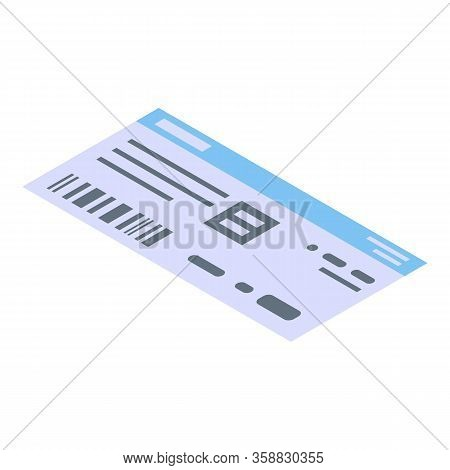 Basketball Match Ticket Icon. Isometric Of Basketball Match Ticket Vector Icon For Web Design Isolat