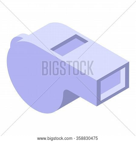 Sport Whistle Icon. Isometric Of Sport Whistle Vector Icon For Web Design Isolated On White Backgrou