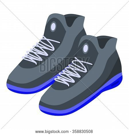 Basketball Sneakers Icon. Isometric Of Basketball Sneakers Vector Icon For Web Design Isolated On Wh