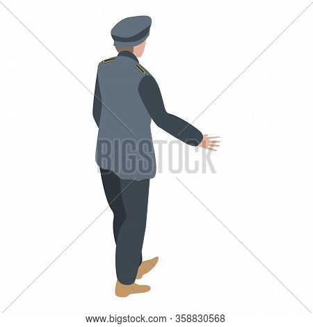 Sailor Man Icon. Isometric Of Sailor Man Vector Icon For Web Design Isolated On White Background