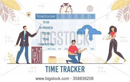 Effective Time Tracker Planner For Business Presentation. Management And Workflow Process Organizati