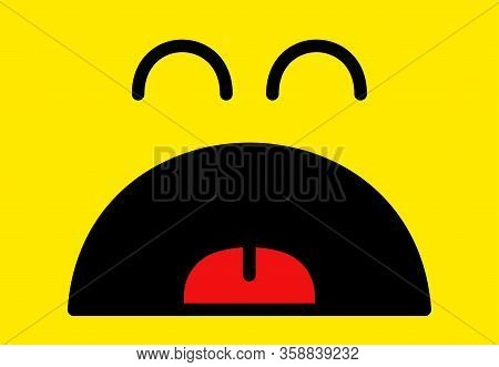 Fun, Funny, Mouth, Lick, Yummy, Backdrop, Background, Banner, Big, Card, Cartoon, Character, Color,