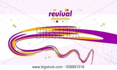 Abstract Curve Lines And Fluid Shapes Vector Background, Dynamic Energy Flow, Curvy Wavy Shapes Flow