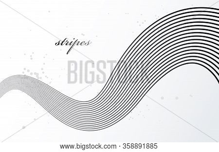Grey 3d Lines In Motion Dimensional Vector Abstract Background, Elegant Curvy Light Stripy Design El