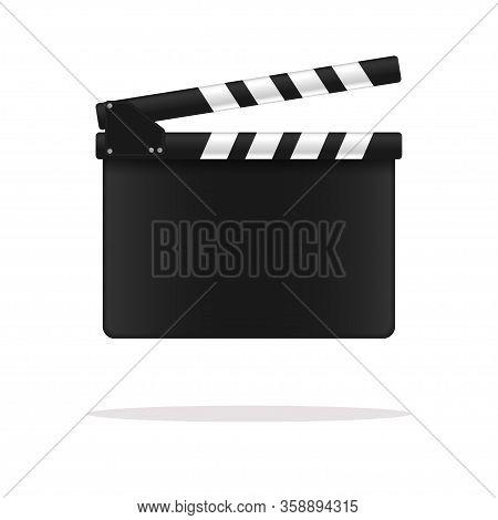 Movie Clapper Board. Vector Illustration. Film Concept.
