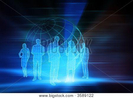 Binary Code Business People