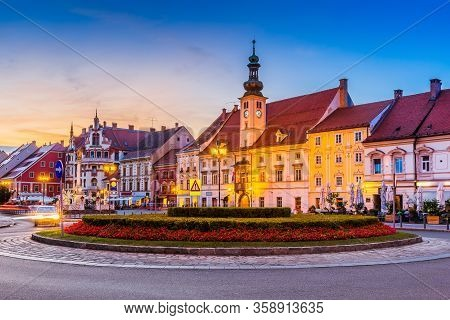 Town Hall On The Maribor Main Square, Slovenia.