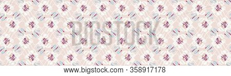 Distorted Graphic Daisy Flower Seamless Border Pattern. Modern Retro Hipster Floral Background. Psyc