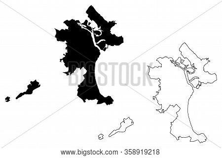 Kirov City (russian Federation, Russia) Map Vector Illustration, Scribble Sketch City Of Kirov Map