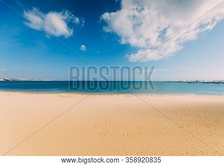 Empty Sea And Beach Background With Copy Space - Paradise Bliss Theme