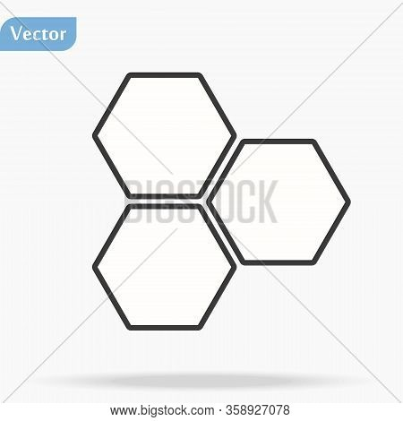 Honeycombs Line Icon Vector. Trendy Flat Honeycombs Icon On White Background. Vector Illustration Ca