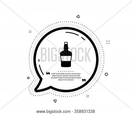 Scotch Bottle Icon. Quote Speech Bubble. Brandy Alcohol Sign. Quotation Marks. Classic Scotch Bottle