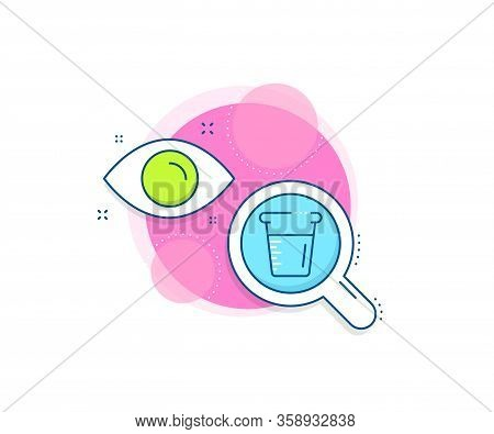 Glass Water Sign. Research Complex Icon. Cooking Beaker Line Icon. Measuring Cup Symbol. Analytics O