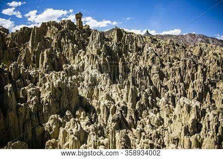 Valle De La Luna In La Paz, Cordillera Real, Andes, Bolivia