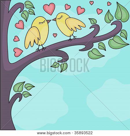 Birds-kissing-on-a-brunch