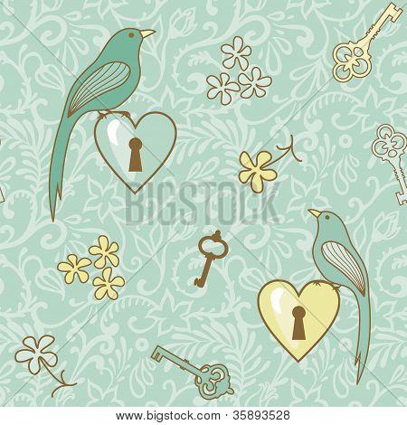 Birds-keys-patern