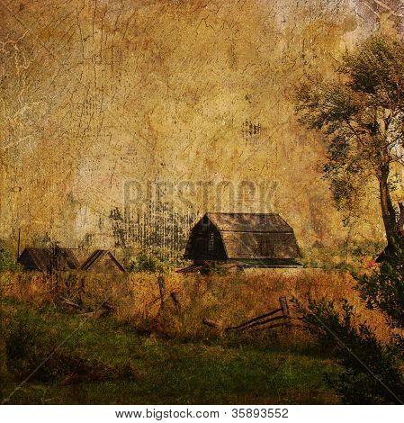 Vintage Village Landscape