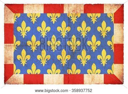 Grunge Flag Indre-et-loire (france)