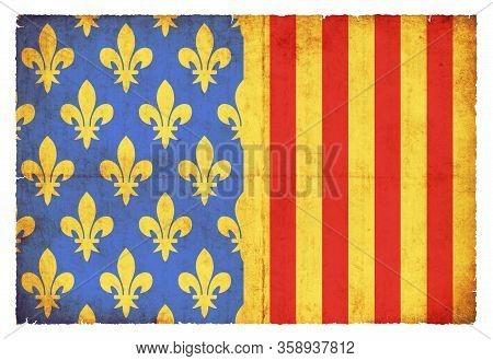 Grunge Flag Lozere (france)