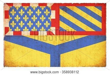 Grunge Flag Yonne (france)