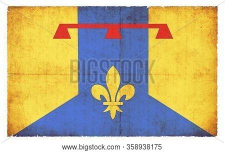 Grunge Flag Bouches-du-rhone (france)