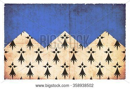 Grunge Flag Cote-d`armor (france)