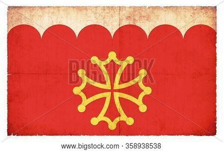 Grunge Flag Gard (france)