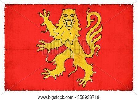 Grunge Flag Aveyron (france)