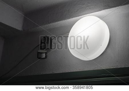 Emergency Light And Motion Sensor. Indoor Emergency Light And Wall Mounted Motion Sensor. Security A