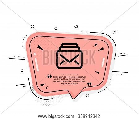 Mail Icon. Quote Speech Bubble. New Messages Correspondence Sign. E-mail Symbol. Quotation Marks. Cl