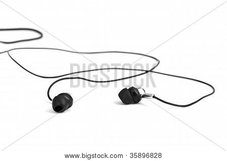 poster of black Headphones isolated on a white background