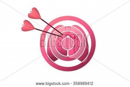 Lungs At Gunpoint In Risk Zone, Conceptual Vector Illustration, Target, Human Facet, Affected By Dis